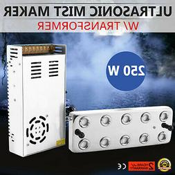 10 Head Ultrasonic Mist Maker Fogger Humidifier With Transfo