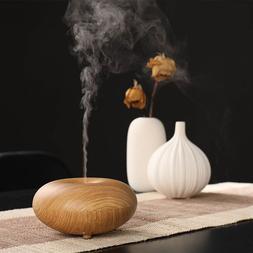 100ml Aroma Essential Oil Diffuser Wood Grain Ultrasonic Coo