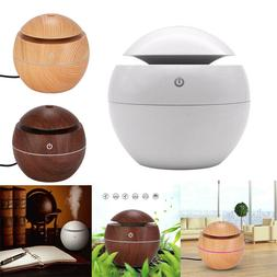 130ML Aroma Essential Oil Diffuser Wood Grain Ultrasonic Aro