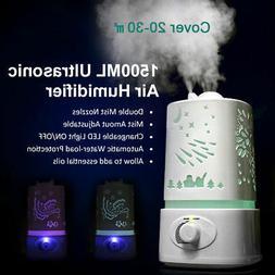 1500ml aroma air humidifier led air diffuser