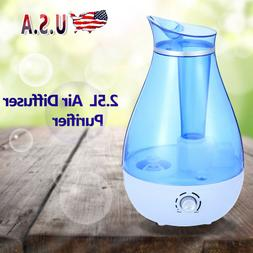 2.5L Ultrasonic Humidifier Cool Air Diffuser Purifier Home O