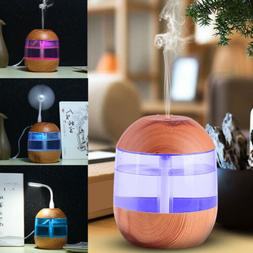 2019 USB Air Diffuser Aroma Oil Humidifier Night Light Up Ho