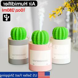 280ml Mini Desktop Humidifier Cactus Air Purifier Diffuser U