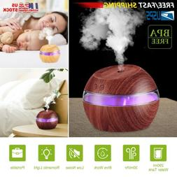 290ml Cool Mist Ultrasonic Humidifier LED Aroma Essential Oi