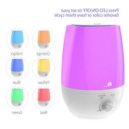 1byone 3/6L Ultrasonic Humidifier 7 Color Night Light Mist A