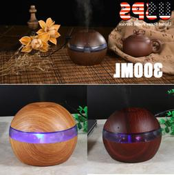 300ml Cool Mist Ultrasonic Humidifier LED Aroma Essential Oi