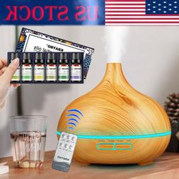 550ml Electric Air Humidifier Essential Oil Diffuser Mist Ma