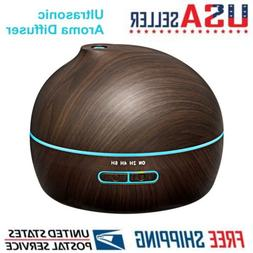 VicTsing 300ml Essential Oil Diffuser Ultrasonic Aroma Wood