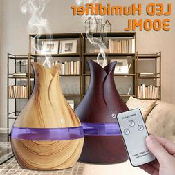 300ML Remote 7 LED Ultrasonic Essential Oil Diffuser Purifie