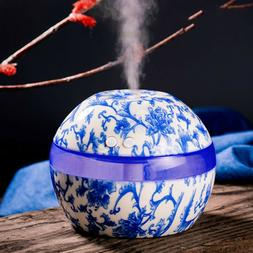 300ml Ultrasonic Air Humidifier Blue And White Porcelain Ess