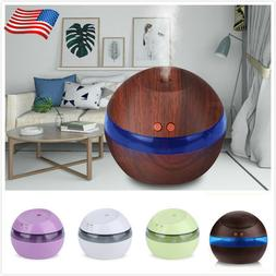 300ML USB Ultrasonic Air Aroma Humidifier LED Essential Oil