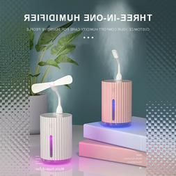 320ml Desk USB Humidifier Car Home Office Mini Air Mist Diff