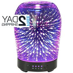 3D Aromatherapy Glass Essential Oil Diffuser Aroma Cool Mist
