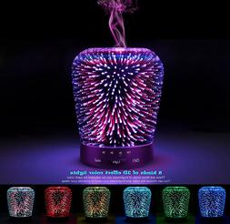 3D Ultrasonic Mist Oil Fragrance Scented Aroma Diffuser Humi