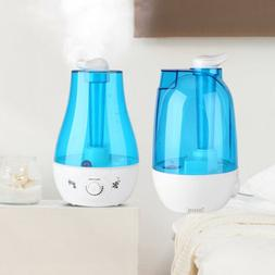 3L Ultrasonic Humidifier Diffuser LED Light Air Purifier Lar
