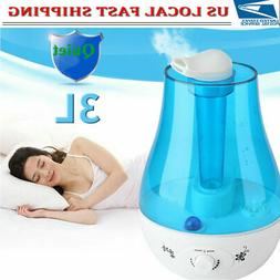 3L Ultrasonic Humidifier Diffuser LED Light Home Office Mist
