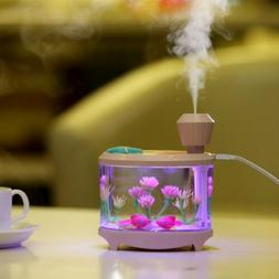 460ML Fish Tank Colorful Humidifier LED Rechargeable Ultraso