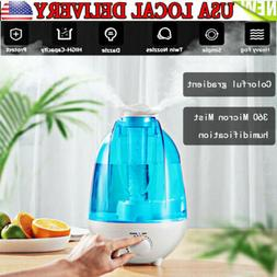 4L Ultrasonic Cool Mist Air Diffuser Humidifier with LED Nig