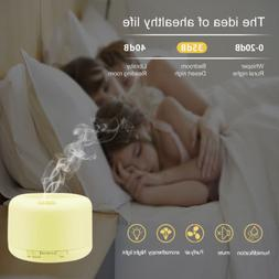 500ml 7 LED Essential Oil Humidifier Aroma Air Aromatherapy