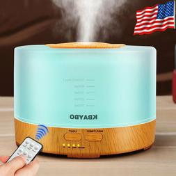 500ml Remote Control Ultrasonic Humidifier Essential Oil Dif