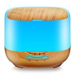 URPOWER 500ML Square Essential Oil Diffuser Humidifiers Ultr