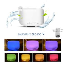 500ML Ultrasonic Aromatherapy Humidifier Air Essential Oil D