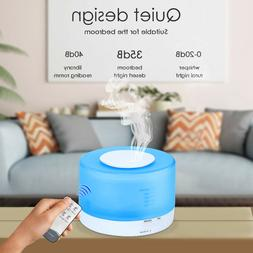 550ml LED Ultrasonic Humidifier Essential Oil Diffuser+Remot