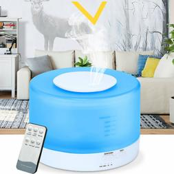 550ml LED Ultrasonic Humidifier Essential Oil Diffuser W/Rem
