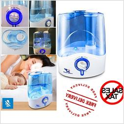 5L Humidifier Cool Mist Quiet Auto Shut-Off for Large Room O