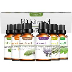 6 Pcs Pure Essential Oil Kit - Natural Aromatherapy For Oil