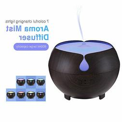 600ML Aromatherapy Oil Essential Aroma Humidifier Air Diffus
