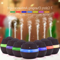 7 Colors LED Ultrasonic Aroma Humidifier Air Aromatherapy Es
