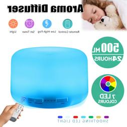 7 LED 500ml Aroma Diffuser Essential Oil Air Mist Humidifier