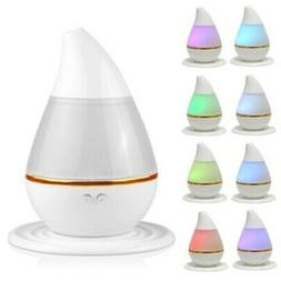 7 LEDS Color Ultrasonic Air Humidifier Oil Aroma Diffuser Pu