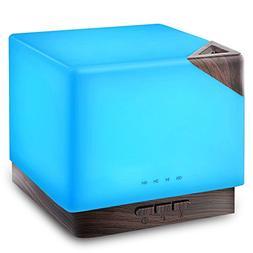 URPOWER 700ml Square Aromatherapy Essential Oil Diffuser Hum