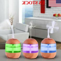 700ml USB Ultrasonic Humidifier Essential oil Diffuser with