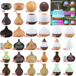 7Color Aroma Essential Oil Diffuser Wood Grain Aromatherapy