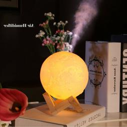 880mL Air Humidifier USB 3D Moon Lamp Aromatherapy Light Ess