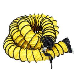 "Rubber-Cal ""Air Ventilator Yellow"" Ventilation Duct Hose , 0"