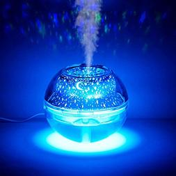 Star/Moon Projection Lamp, Sysmarts Silent Humidifier with L