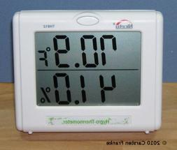 Temperature Humidity Meter - Hygrometer for Hydroponics, Gre