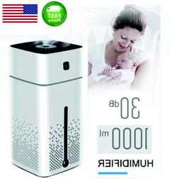 Air Humidifier 1000ml USB Cool Mist Night light Purifier For