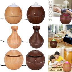 Aroma Essential Oil Diffuser Wood Grain Ultrasonic Aromather