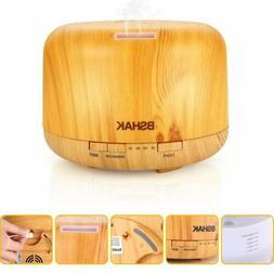 Aroma Essential Oil Diffuser Wood Ultrasonic Aromatherapy Hu