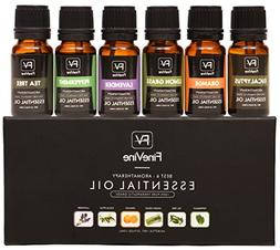 Aromatherapy Top 6 Essential Oils Gift Set - 100% Pure Premi