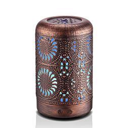 100ml Aromatherapy Essential Oil Diffuser Humidifier Bronze,