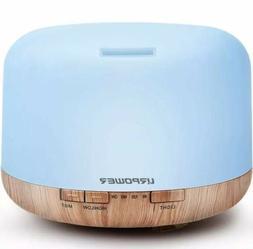 500ml Aromatherapy Essential Oil Diffuser Humidifier w/ Colo
