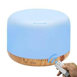 Aromatherapy Essential Oil Diffuser Humidifier, 500ML With R