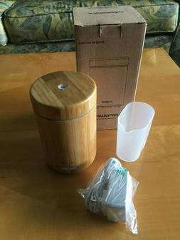 Urpower Bamboo Essential Oil Diffuser Humidifier & Mood Ligh