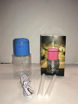 Blue Mini Ultrasonic Portable Water Bottle Cap Air Mist Humi